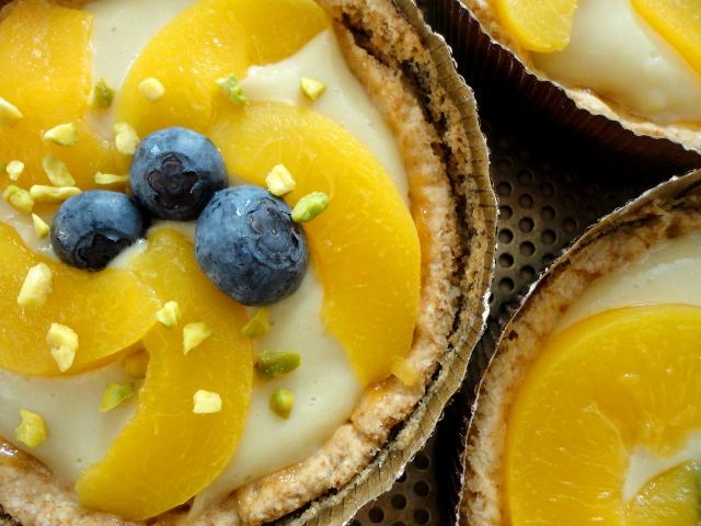 Pfirsich-Vanille-Tarte bröselei