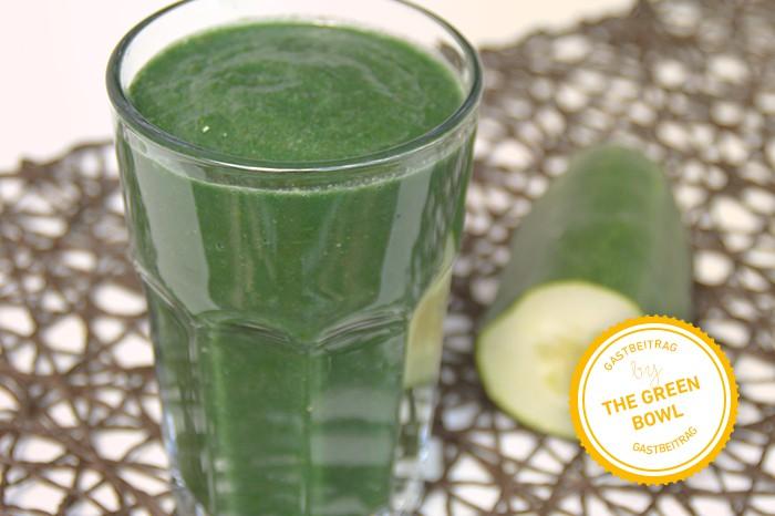 Erfrischend grün: der leckere Protein-Smoothie mit Gurke und Spinat
