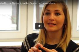 Expertin Bianca Gasser testen mit nutreos